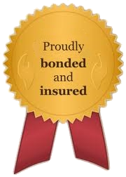 bonded and insured badge