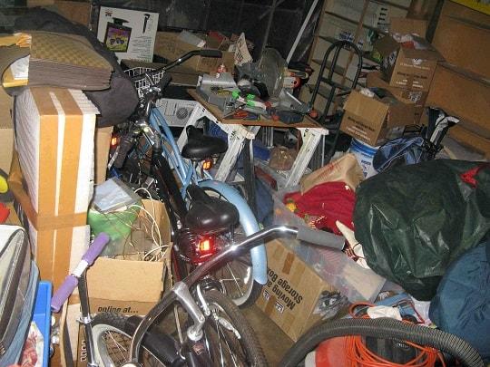 Junk in garage
